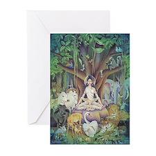 Parvati Meditating - Greeting Cards (Pk of 10)