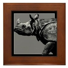Black Rhino Framed Tile