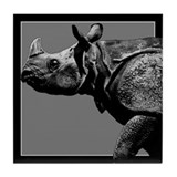 Black Rhino Tile Coaster