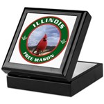 Illinois Free Mason Keepsake Box