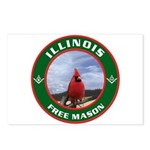 Illinois Free Mason Postcards (Package of 8)