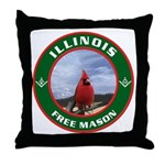Illinois Free Mason Throw Pillow