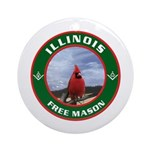 Illinois Free Mason Ornament (Round)