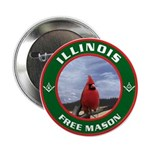 Illinois Free Mason Button
