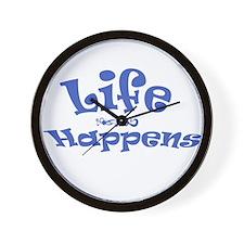Life Happens Wall Clock