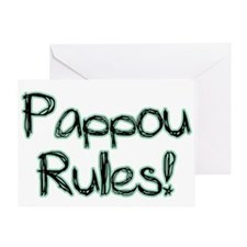 Pappou Rules! Greeting Card