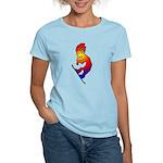 Kokopelli Snowboarder Women's Light T-Shirt