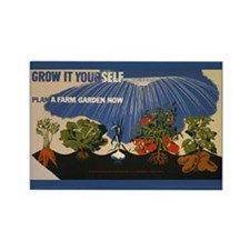 Sustainable Garden Farm Rectangle Magnet