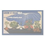 Sustainable Garden Farm Rectangle Decal