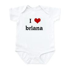 I Love briana  Onesie