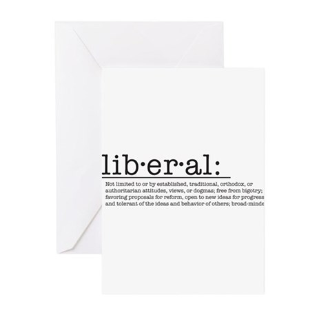 Liberal Definition Greeting Cards (Pk of 10)