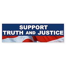 SUPPORT TRUTH and JUSTICE Bumper Bumper Sticker