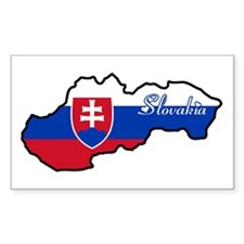 Cool Slovakia Rectangle Decal