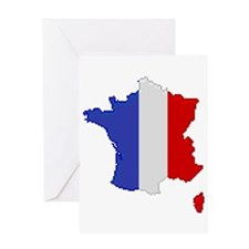 """Pixel France"" Greeting Card"