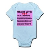 What Is Love Pretty In Pink Infant Bodysuit