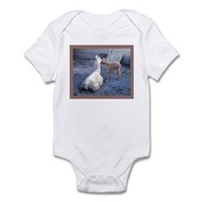 mom and baby llama Infant Bodysuit