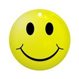 Classic Smiley Ornament (Round)