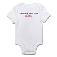Portuguese Water Dogs Kick as Infant Bodysuit