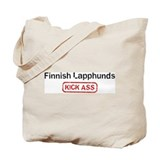 Finnish Lapphunds Kick ass Tote Bag