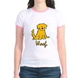 "Yellow Scruffy Dog ""Woof"" T"
