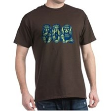 See Hear Speak No Evil Monkey T-Shirt