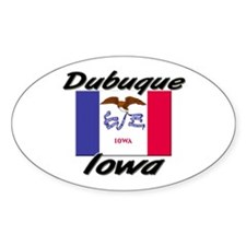 Dubuque Iowa Oval Decal