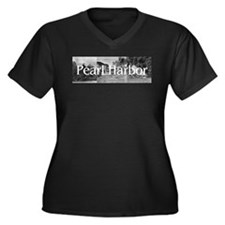 ABH Pearl Ha Women's Plus Size V-Neck Dark T-Shirt