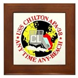 USS Chilton (APA 38) Framed Tile