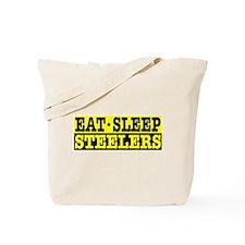 Eat Sleep Steelers Tote Bag