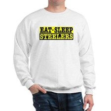 Eat Sleep Steelers Sweatshirt