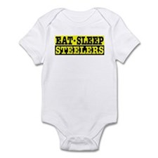 Eat Sleep Steelers Infant Bodysuit