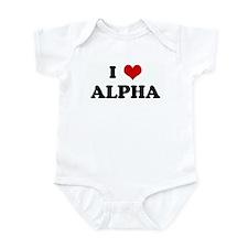 I Love ALPHA Onesie