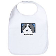 Anime Bearded Collie Bib