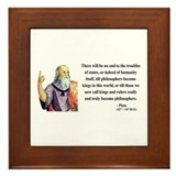 Plato 6 Framed Tile