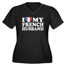 I Love My French husband Women's Plus Size V-Neck