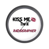Kiss Me I'm a RADIOGRAPHER Wall Clock