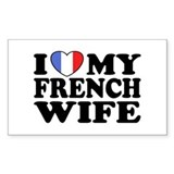 I Love My French Wife Decal