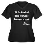 Plato 10 Women's Plus Size V-Neck Dark T-Shirt