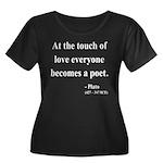 Plato 10 Women's Plus Size Scoop Neck Dark T-Shirt