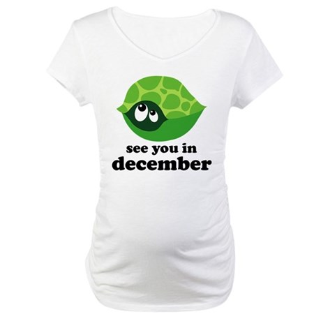 Due In December Maternity T-Shirt