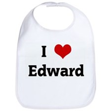 I Love Edward Bib