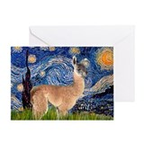 Starry Night Llama Greeting Card