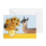 Sunflowers & Llama Greeting Card