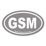 Great Smoky Mountains GSM Euro Oval Sticker v2