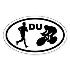 Duathlon Duathletes Oval Decal