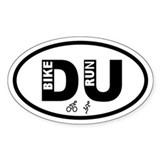 Duathlon Bike Run Oval Decal