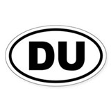 Basic Duathlon Oval Bumper Stickers