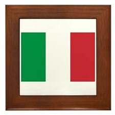 Italian Flag Framed Tile