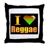 reggae Throw Pillow
