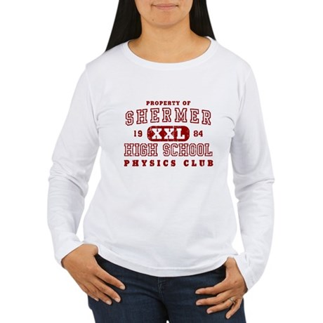 Shermer High Physics Club Womens Long Sleeve T-Sh